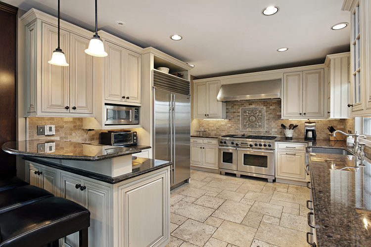 cabinets in with countertops hd sales tan kitchen baths and installation
